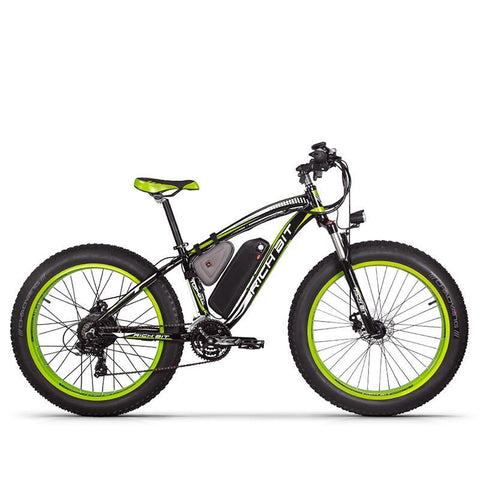 Rich Bit RT-012 Plus 1000w Electric Bike - Black/Green - Royalty Wheels