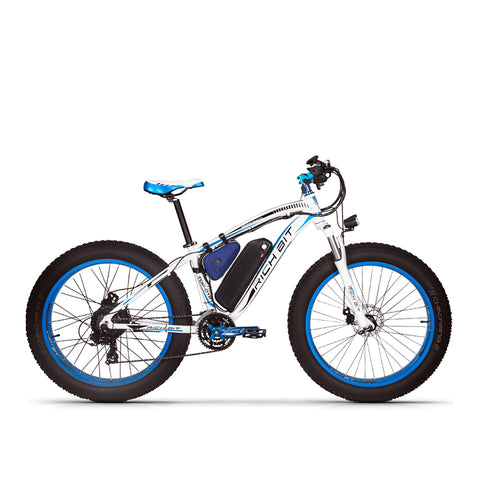 Rich Bit RT-012 Plus 1000w Electric Bike - Black/Blue - Royalty Wheels