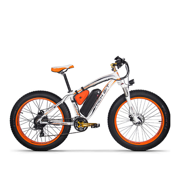 Rich Bit RT-012 Plus 1000w Electric Bike - Black/Orange - Royalty Wheels