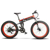 Cyrusher XF690 Folding Electric Fat Tire Bike - Black/Red - Royalty Wheels