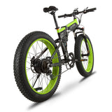 Cyrusher XF690 Folding Electric Fat Tire Bike - Black/Green - Royalty Wheels