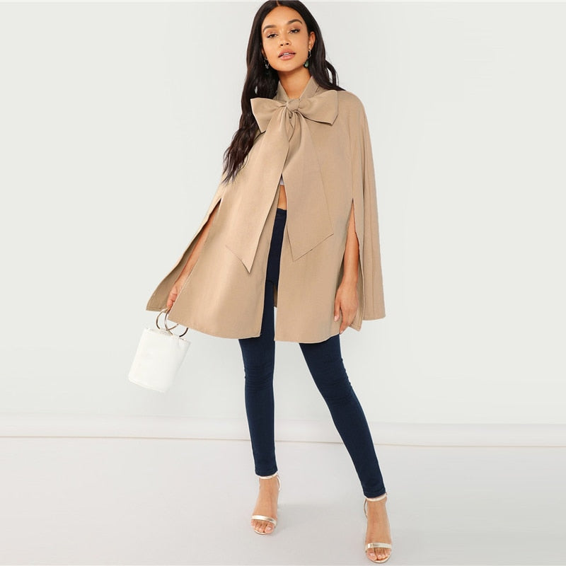 Khaki Cape Coat