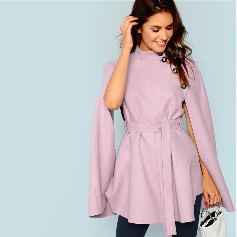 Lavender Cape Coat