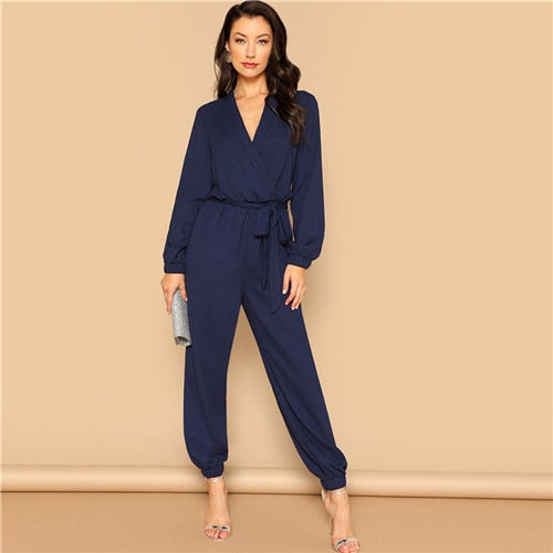 Navy Business Jumpsuit