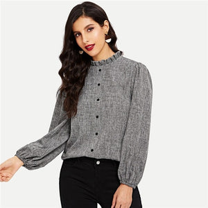 Grey Collar Sweater