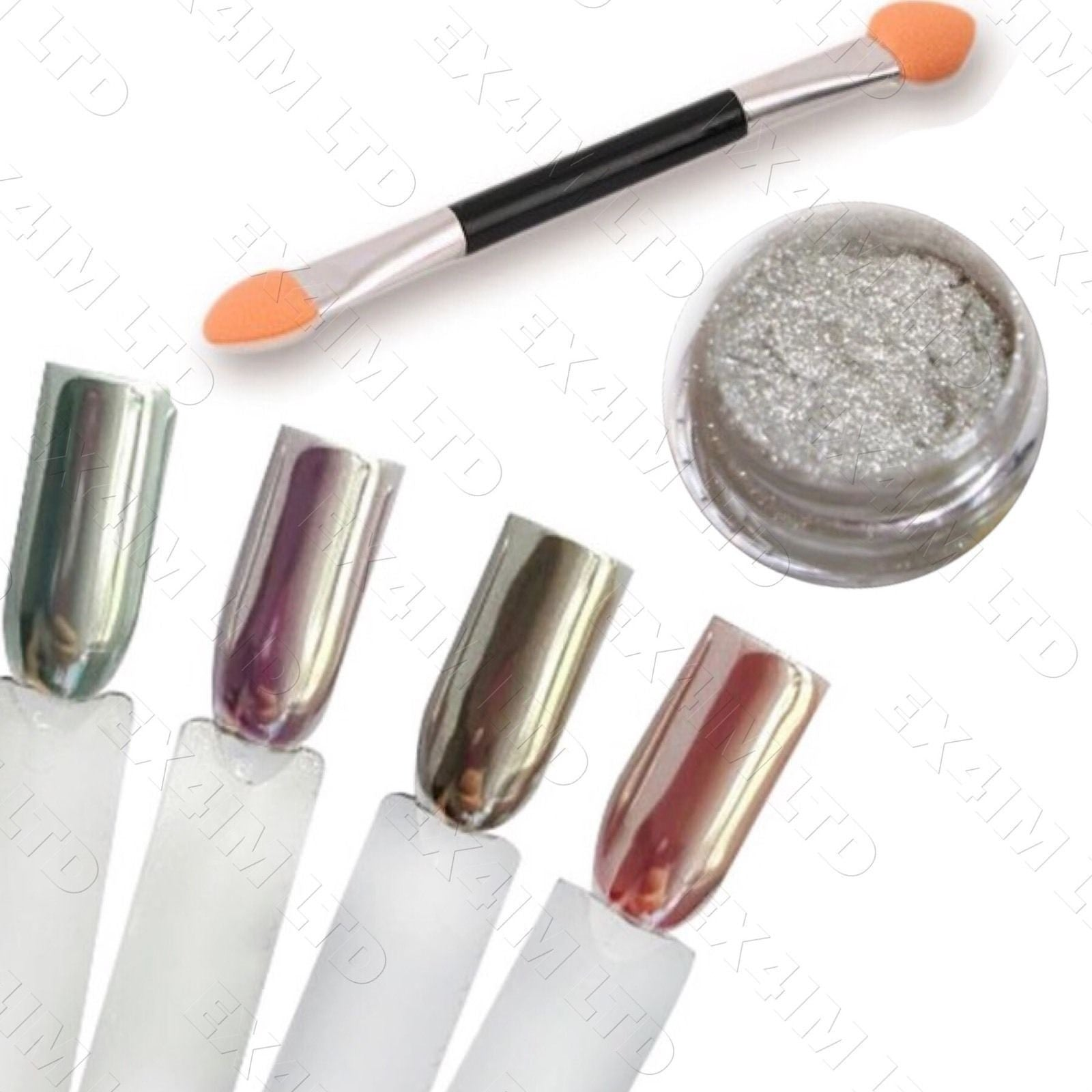 Holographic Powder 15 Microns Unicorn Effect Mirror Chrome Nail ...