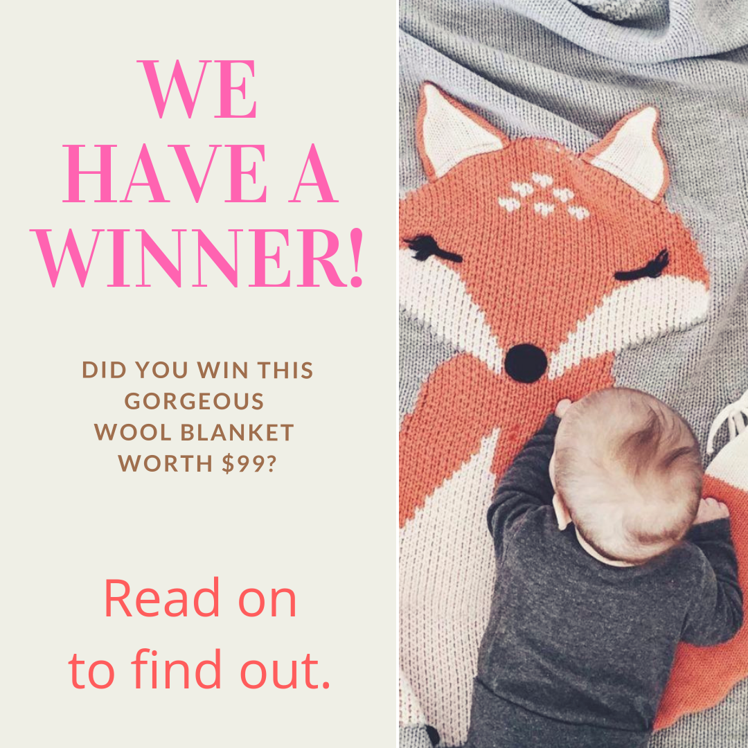 Fox Blanket Giveaway - We have a winner!