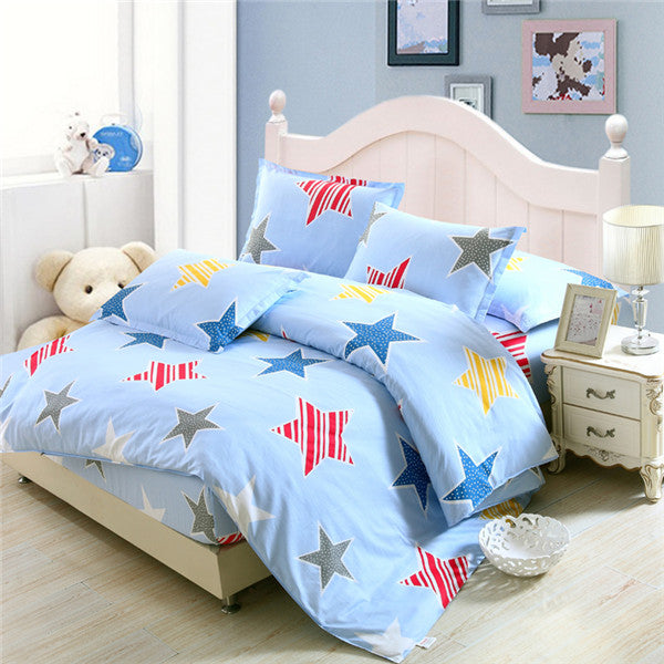 Star-Themed 4-Piece Bedding Set