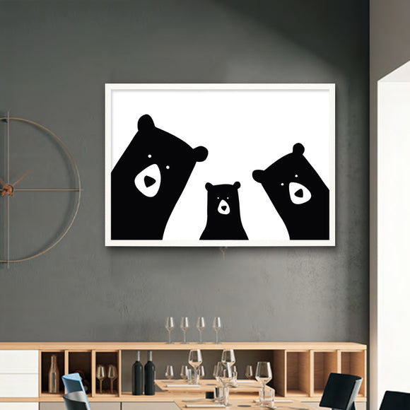 Bear Family Painting (Canvas)
