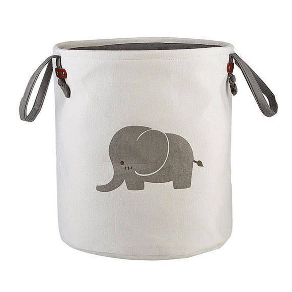 Foldable Round Storage - Elephant