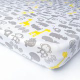 100% Cotton fitted crib sheet (patterned)