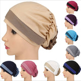 2 color turban with flower in the back