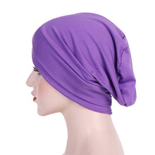 Load image into Gallery viewer, Women Simple Turban Headwear - Pre-tied Cap - Highest Quality Soft Headband Scarf