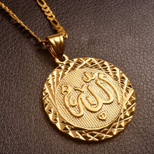 Load image into Gallery viewer, Gold Color Allah Pendant Necklace Chain