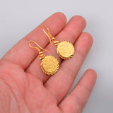 Coin Earrings Gold Color Jewelry Ancient Coins Vintage