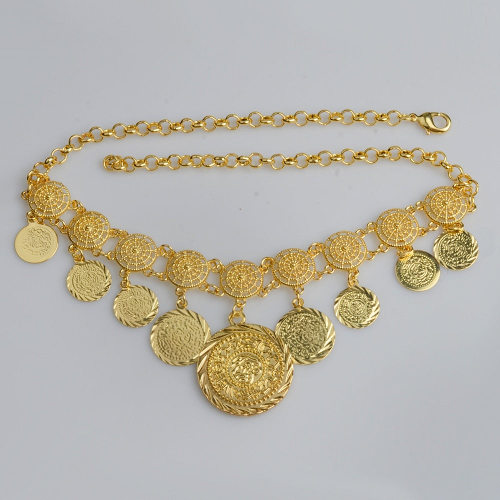 Coin Necklaces for Women's Gold Color Middle Eastern jewelry