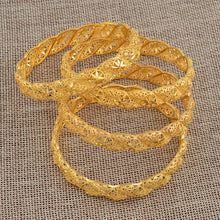 Load image into Gallery viewer, Ethnic Gold Color Bangles for Women Girl - 4Pieces/Lot Bride Bracelet