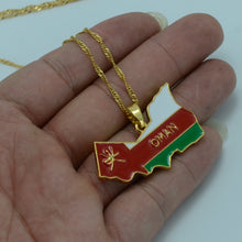Load image into Gallery viewer, Oman Map Flag Pendent with Chain - Perfect Gift for Unisex - Trendy Style Necklace