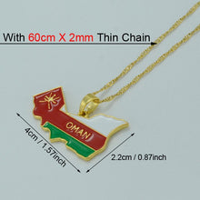 Load image into Gallery viewer, Oman Map/flag pendent with chain
