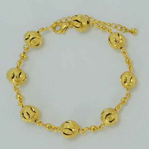 Round Beads Bracelet Gold Color