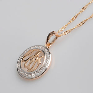 d1a8c9977 Allah Pendant Necklaces for Women,Cubic Zirconia with chain
