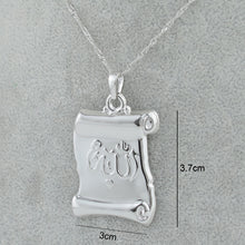 Load image into Gallery viewer, Silver Color Allah Charm Pendant Necklaces with chain