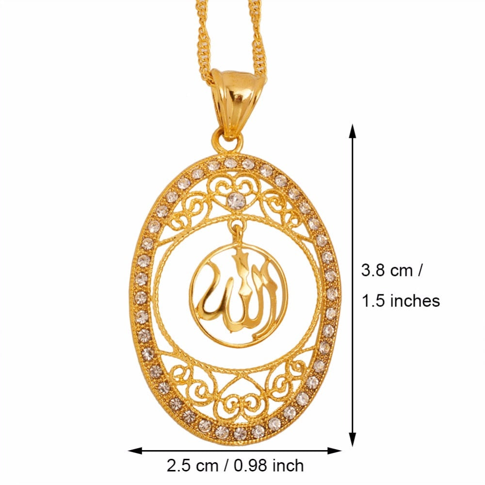 Allah pendant with chain