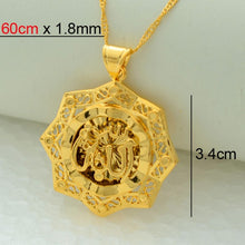 Load image into Gallery viewer, Allah Pendant Necklace with chain