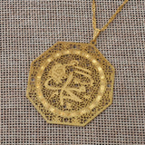 Gold Muhammed pendant with chain