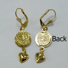 Load image into Gallery viewer, Trendy Style Heart Coin Earrings - Gold Color Stud for Women and Girls