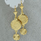 Coin Earring Women Gold Color small or girls or women