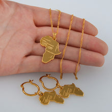Load image into Gallery viewer, African Map Jewelry sets Necklace with Earrings