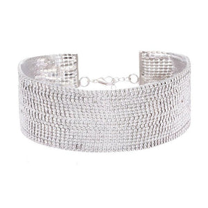 Multi-Layer Diamante Rhinestone Choker