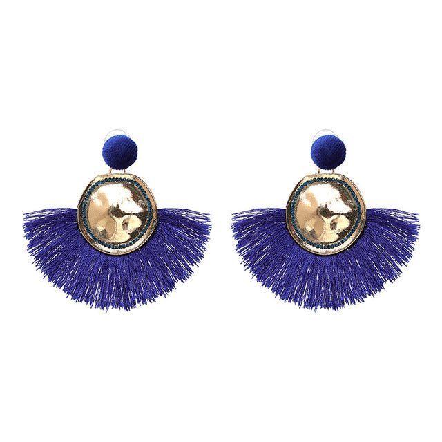 Vintage Fringing Fan-shaped Earrings