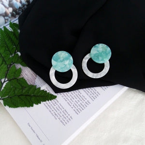 Large Circle Round Earrings