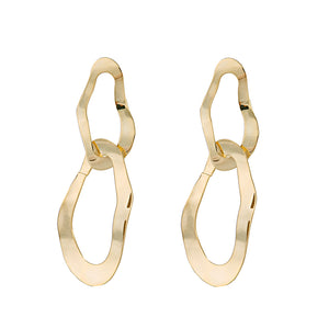 Double Waved Hoop Earrings