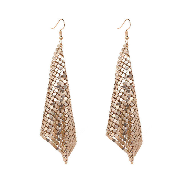 Vintage Geometric Drop Long Tassel Earrings