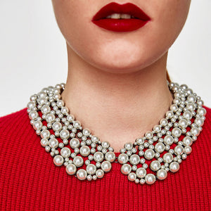 Elegant Simulated Pearl Necklace