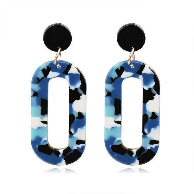 Acrylic Pattern Earrings