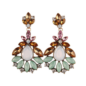 Crystal Bib Beads Earrings