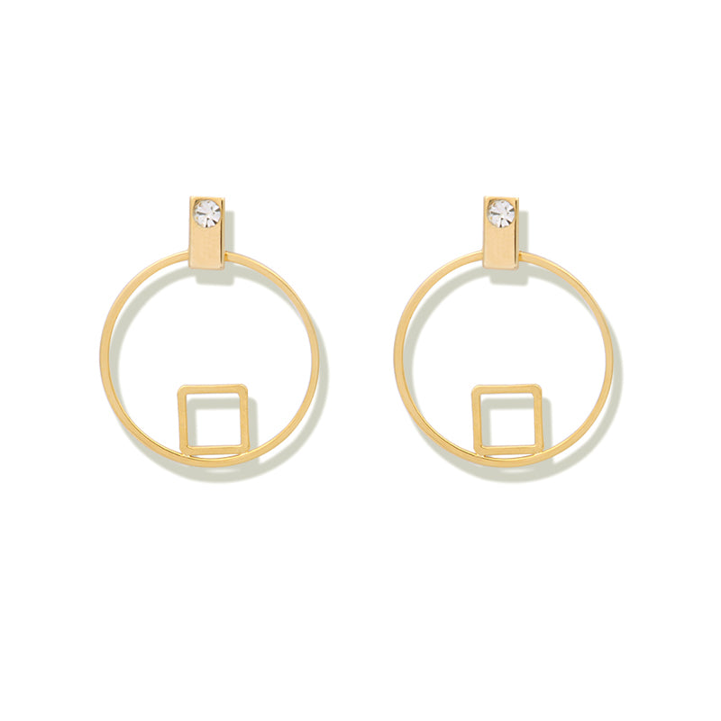 Open Square/Round Earrings