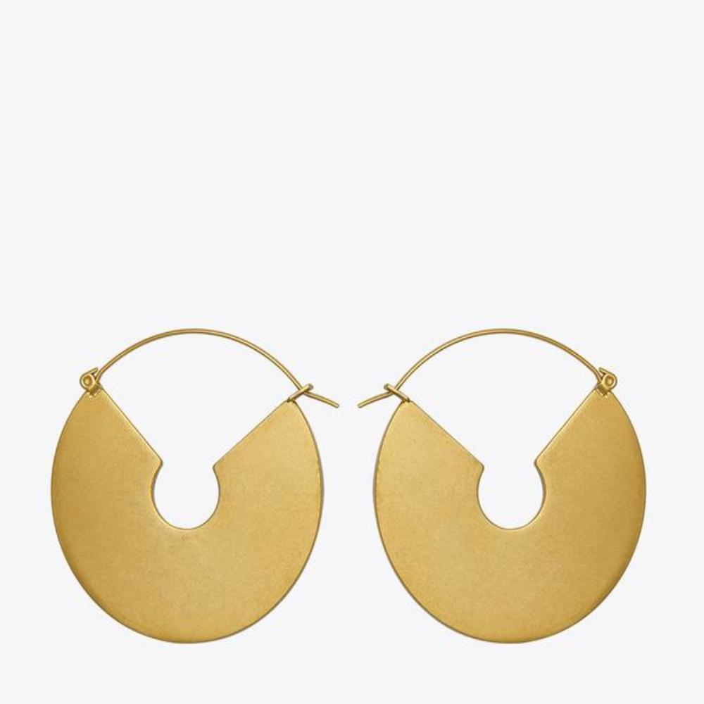 Big Circle Dangle Earrings