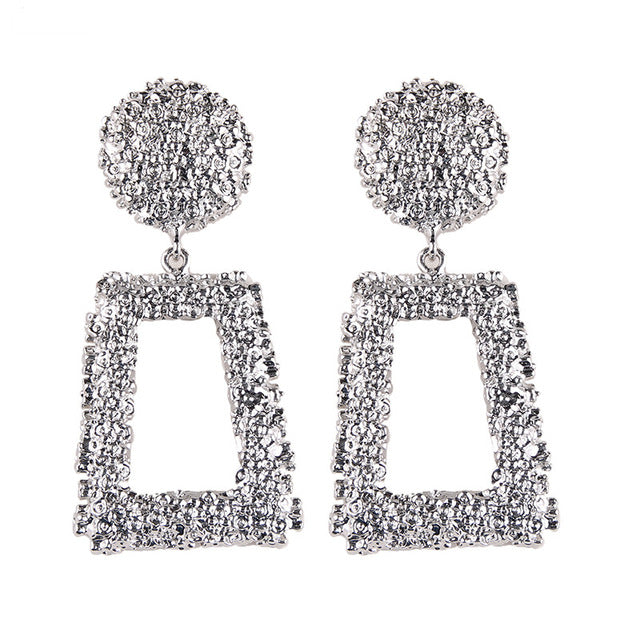 Heavy Wedding Drop Earrings