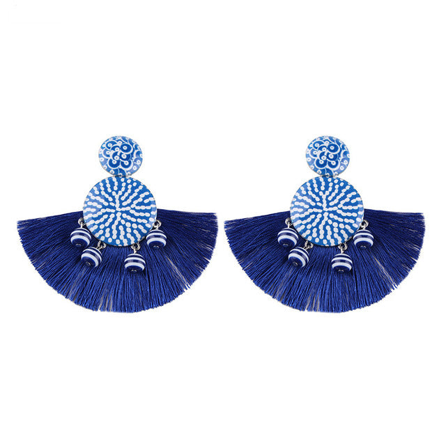 Charm Tassel Earrings