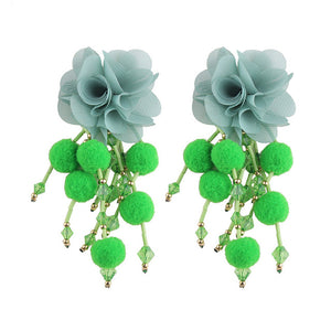 Flower Drop Dangle Earrings