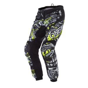 ONEAL ELEMENT ATTACK PANTS BLACK/HI-VIZ (SIZE: 28)