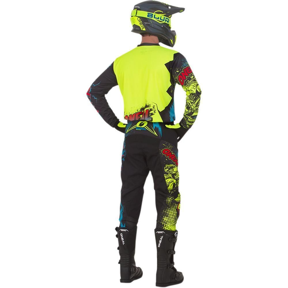 ONEAL ELEMENT VILLAIN NEON YELLOW YOUTH PANT (SIZE: 8/10)