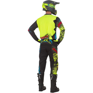 ONEAL ELEMENT VILLAIN NEON YELLOW PANTS (SIZE: 28)