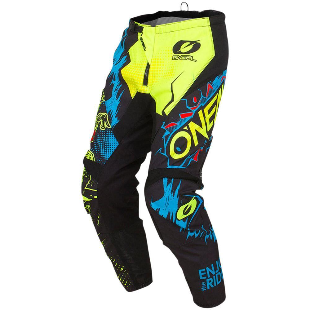 ONEAL ELEMENT VILLAIN NEON YELLOW YOUTH PANT (SIZE: 5/6)
