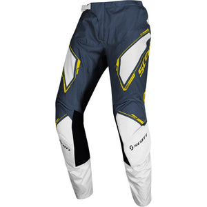 SCOTT 350 DIRT BLUE/YELLOW ADULT PANTS (SIZE: 34)